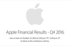 Apple anunciará los resultados de su último cuarto fiscal el próximo 27 de Octubre