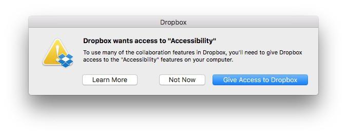 accesibilidad Dropbox
