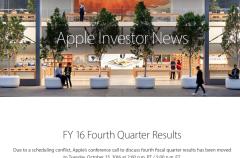 Apple adelanta la presentación de su último cuarto fiscal por motivos de agenda
