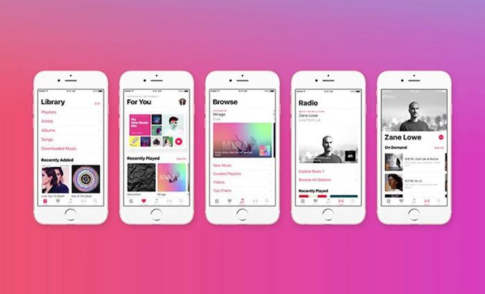 Interfaz Apple Music