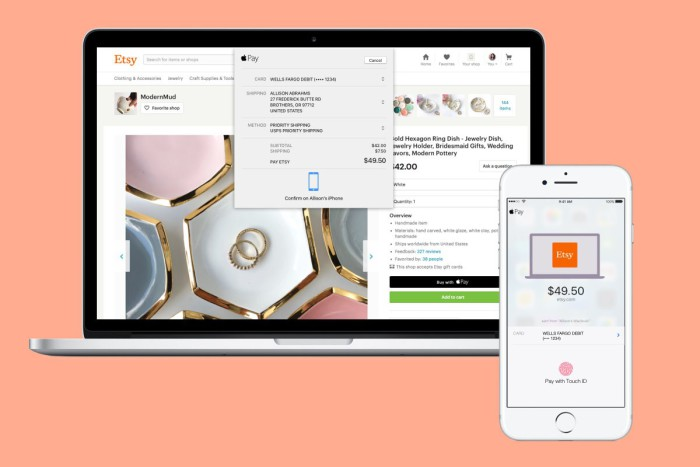 Etsy Apple Pay