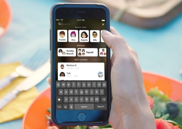 Búsqueda Snapchat