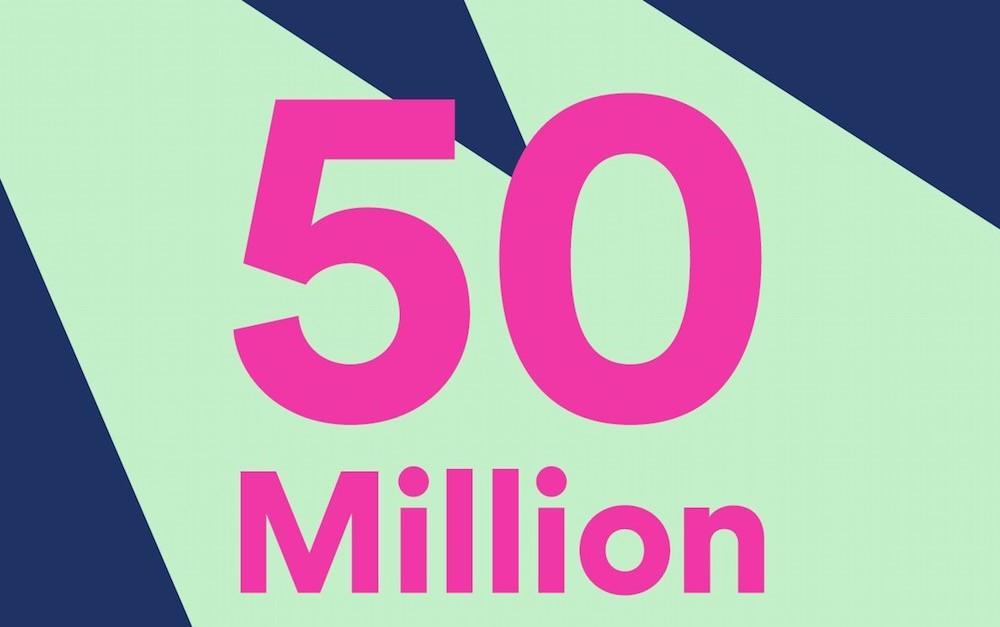 Spotify anuncia con emoción haber superado los 50 millones de suscriptores de pago