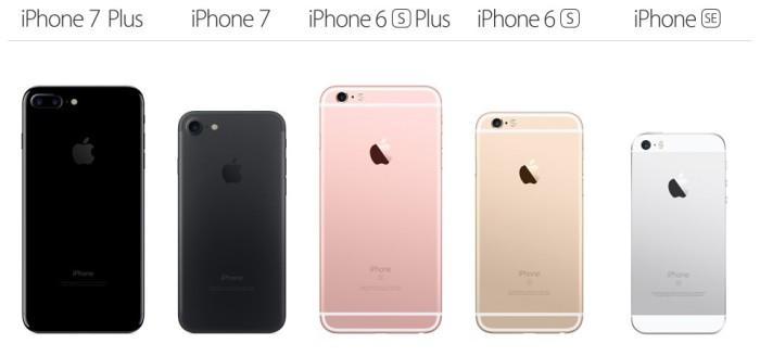 gama iPhone 2016