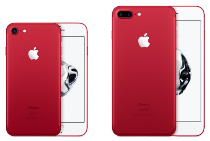 iPhone 7 y 7 Plus RED