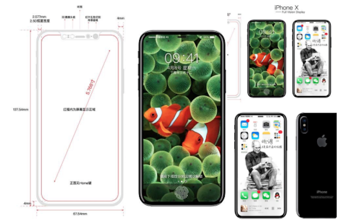 Diseño iPhone X