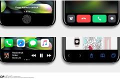 """Nuevos renders nos permiten imaginar el potencial del """"área de función"""" en el iPhone 8"""