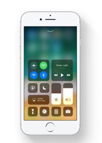 Centro Control iOS™ 11