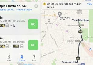 Madrid estrena las indicaciones de tránsito en los mapas de Apple