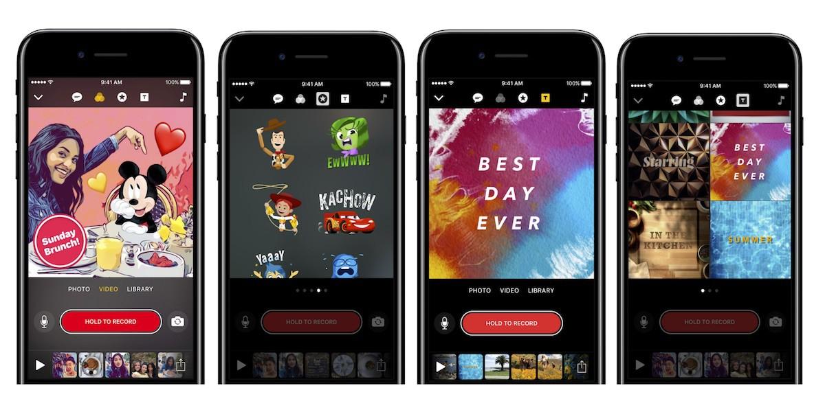 Apple actualiza su aplicación Clips y añade nuevos efectos de Disney y Pixar