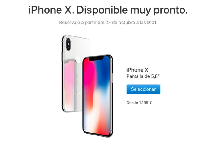 iPhone X reserva