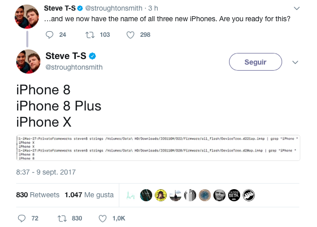 iPhone X tweet