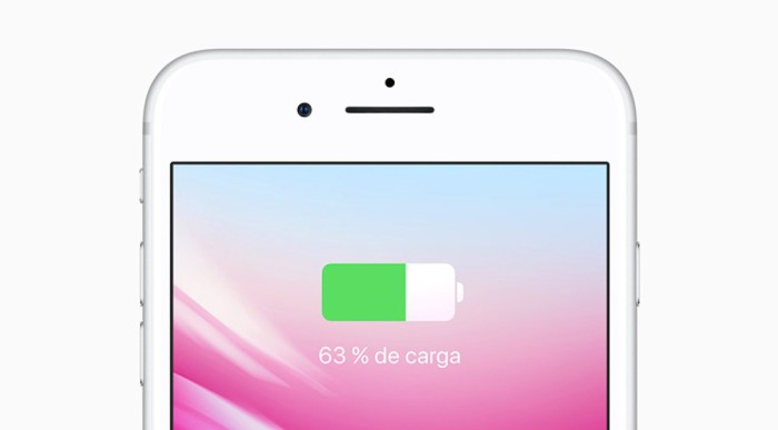 La carga rápida en el iPhone 8 funciona también con cargadores de terceros