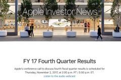 Apple anunciará sus últimos resultados financieros el próximo 2 de Noviembre