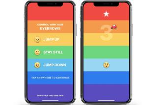 ¡Sin manos! Así es Rainbrow, el juego para el iPhone X que controlaremos con la mirada