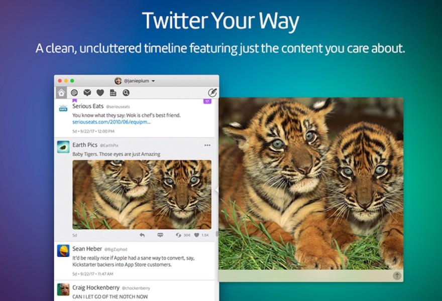 Twitter anuncia la muerte de su aplicación para Mac y Twitterrific aprovecha bajando el precio de la suya