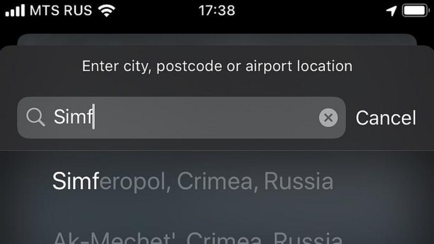 Crimea Apple Maps 2