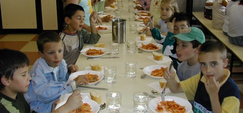 Los comedores escolares se enfrentan a un 4 por ciento de niños alérgicos