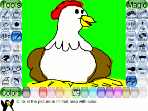 Tux Paint una pizarra virtual para los jóvenes artistas