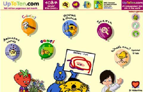 Up to ten, juegos infantiles en inglés y francés