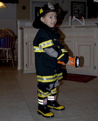 Carnaval: Disfraz casero de bombero