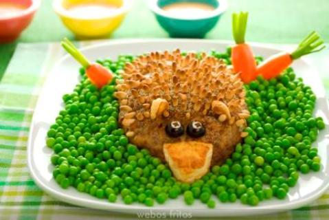 receta para niños erizo de campo al horno