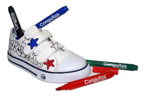 Zapatillas infantiles para pintar