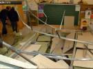 Estaban en clase y el techo se les vino encima