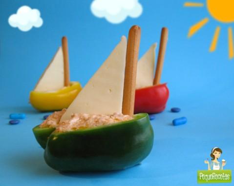 receta para niños barcos de ensalada