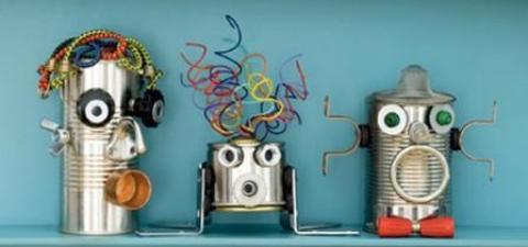 Manualidades Con Ni  Os  Robots De Botes Reciclados