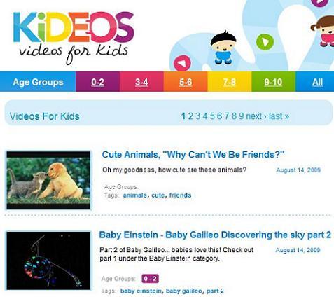 Kideos, el Youtube para niños