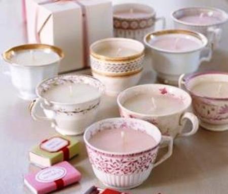 ideas para el dia de la madre: velas en taza