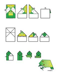 Manualidades: Cómo hacer una rana de papiroflexia_2