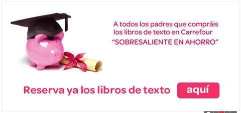 Promoción ahorro Carrefour para libros de texto
