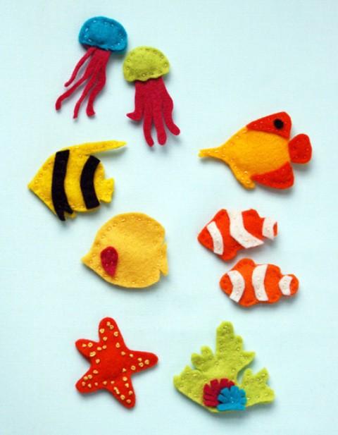 manualidades con niños un divertido acuario de fieltro
