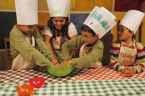 taller de cocina para niños en Barcelona