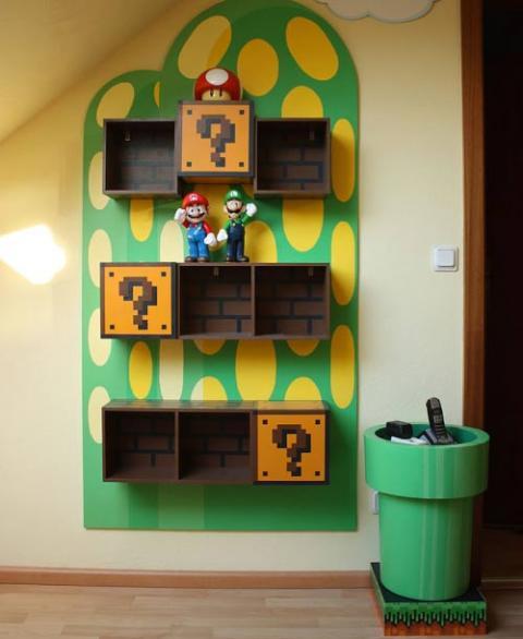 Muebles de Mario Bross para decorar la habitación