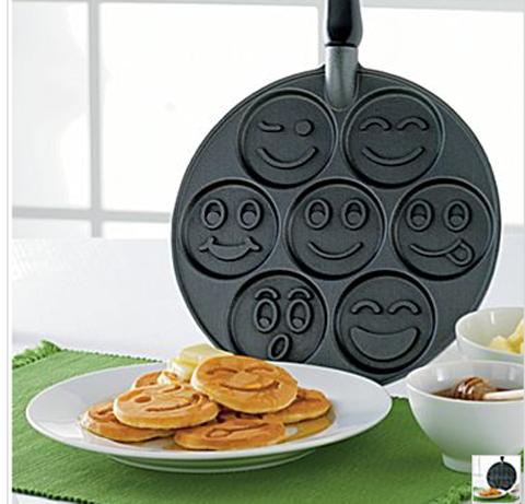 Tortitas con caras divertidas para el desayuno