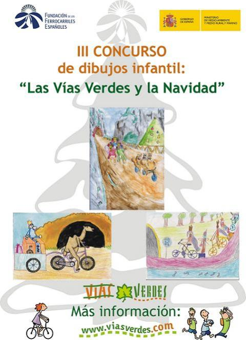 Concurso de dibujo infantil sobre la Navidad y las Vías Verdes