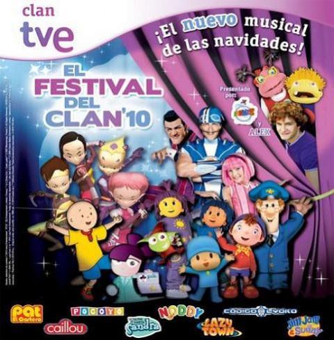 Lazy Town, Jim Jam… el Festival del Clan vuelve por Navidad