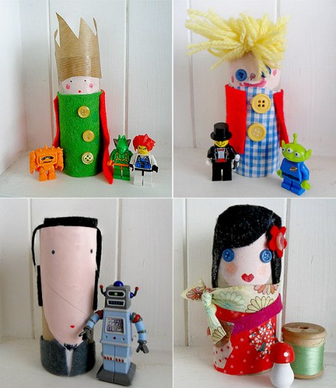 manualidades con niños: divertidas marionetas recicladas