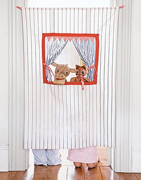 manualidades para niños: teatro de marionetas