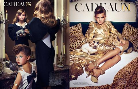 Controvertida portada de Vogue con niñas modelo excesivamente sensuales