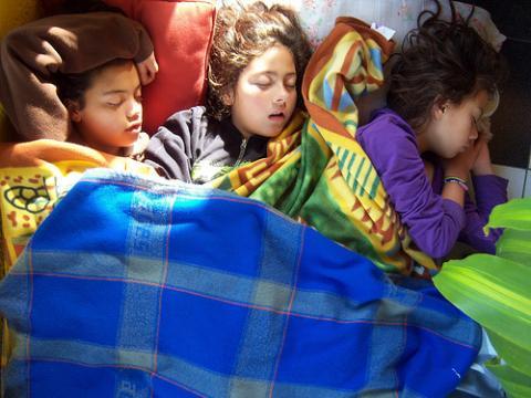 Los niños españoles no descansan bien