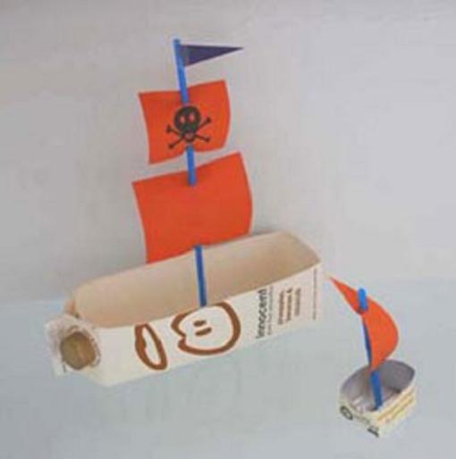 Manualidades: Un barco con un tetrabrick