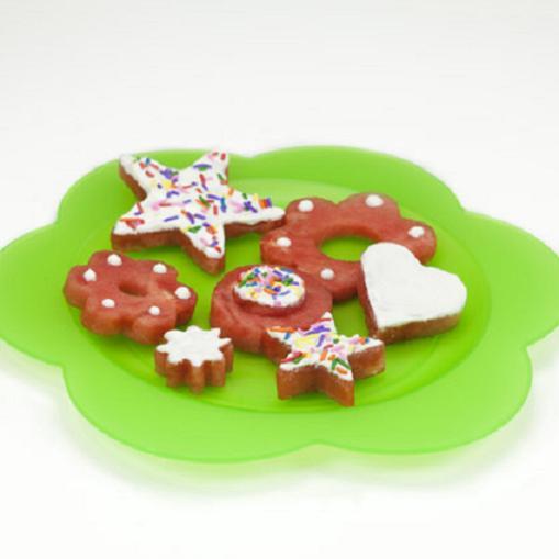Sandía transformada en galletas