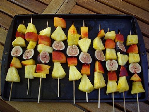 Receta para niños con fruta de verano