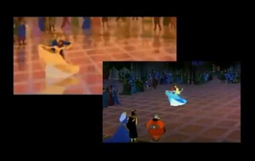 Disney: mismas escenas distintos personajes
