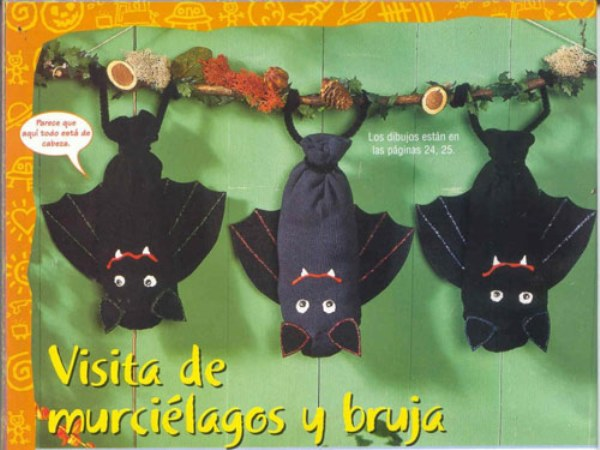 Manualidades de Halloween: Temibles murciélagos