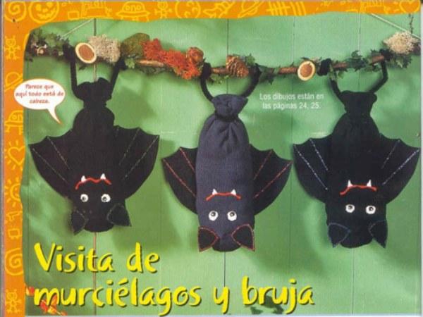 Murcielagos para decorar Halloween